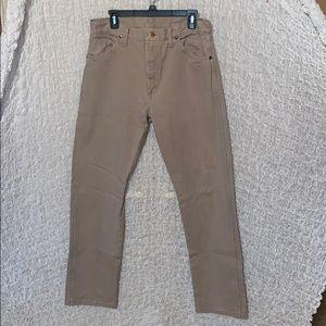 Wrangler tan jeans